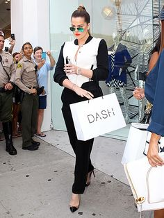 Amid rumors that she and her hubby Lamar are headed for splitsville, Khloé Kardashian, in aviators with aqua flash lenses, indulged in some retail therapy at her DASH boutique in Los Angeles!