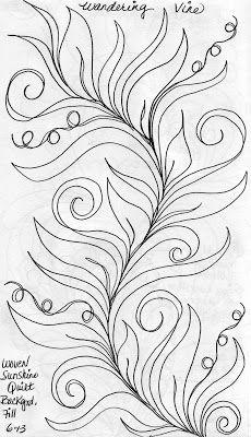 Sketch Book....Wandering Vine Background Fill