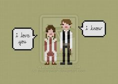 Quoteables leia and han pattern by avatarswish on deviantart han