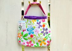 Quilted Toddler Purse handmade in butterfly by PotatoBlossomStudio, $22.00