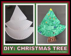 Making a Christmas Tree from Paper Plates via RainbowsWithinReach