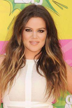 khloe kardashians hair color | Khloé Kardashian Odom Ombre Hair Color - 2013 Celebrity Haircuts ...