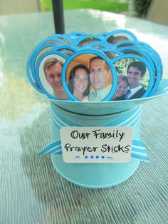 Family Prayer Sticks---teach your children to pray for and encourage others (From: Everyday with the Stricklands)