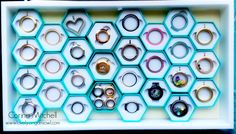 Brilliant display by Corina! Origami Owl had NEW packaging for their Fall Collections and I love it so much that I am using it to display my lockets and dangles!