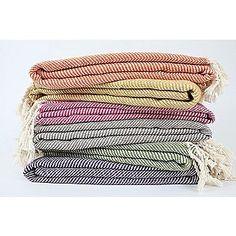 Nine Space Herringbone Throw Blanket-