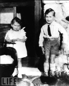George H.W. Bush, 5 years old, with sister Mercy, 1929