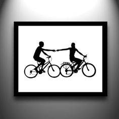 wall decor, first anniversary, anniversary ideas, bicycle art, cut paper