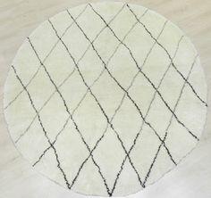 7 FT 213 cm Round Moroccan Berber Beni Quarain by WeMakeRugs, $899.00