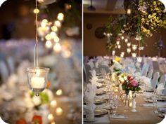 burlap, lights, idea, simple centerpieces, candl, emili steffen, photography, summer weddings decorations, steffen photographi