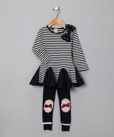 girl cloth, toddler girls, dresses, white, bows, navy, toddlers, stripes, leggings
