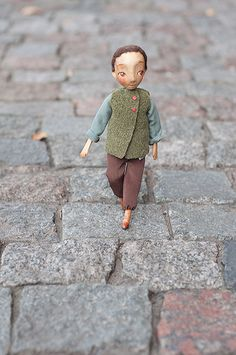 wooden doll by ligreego