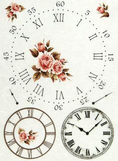 Ricepaper/ Decoupage paper, Scrapbooking Sheets /Craft Paper Clock