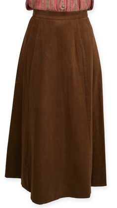 Brushed Twill Gibson Girl Skirt - Brown $69.95