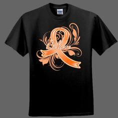 Believe Leukemia Awareness Ribbon - Ultra Cotton ® 100% Cotton T Shirt