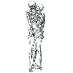 skull, bone, art, poster, skeleton, kisses