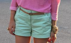 Love colored shorts! I want pink ones!