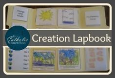 7 Days of Creation Lapbook - Instructions and printable from Our Catholic Homeschool