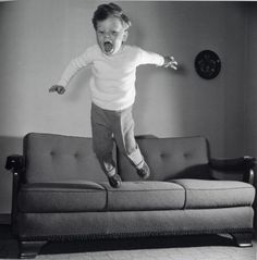 jumping on the couch!
