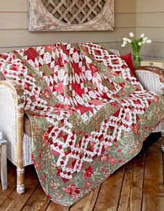 Garden Stroll...Gorgeous border, great design, and lovely color choices. Love this quilt.