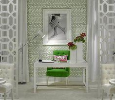 love the bold green chair