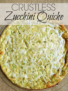 Crustless Zucchini Quiche- a delicious way to use up zucchini and it's super frugal too!
