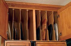 Kitchen Cabinet Organizers | Tra-Sta Kitchen Tray Dividers by Omega National | KitchenSource.com ...