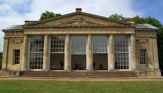 Croome Court near High Green, Worcester - Temple Greenhouse designed by Robert Adam's and included underfloor heating and huge glazed sash windows. This housed the 6th Earl's collection of exotic plants