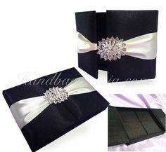 Black Embellished Wedding Invitation Box