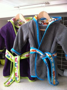 Robes I made for Ella and Henry. Pattern from www.danamadeit.com