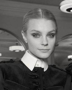 Jessica Stam backstage at Fridays Jason Wu fashion show.