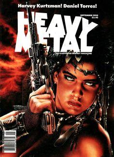 Heavy Metal - Vol. 14 No. 4 September 1990 - Luis Royo