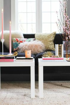 How to Style a Coffee Table #theeverygirl #ikea