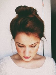 Pretty bun - easy hair idea