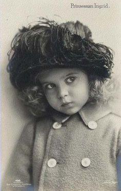 Lovely Little Princess Ingrid of Sweden, future Queen of Denmark