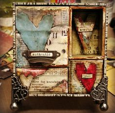 I love the collage technique use on this gift box - so applicable to other things!