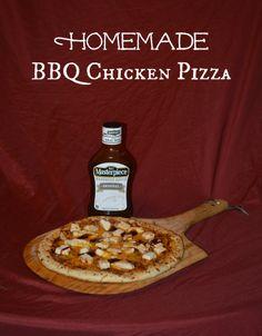 Homemade BBQ Chicken Pizza #Recipe #kcmasterpiece