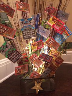 Lottery ticket basket