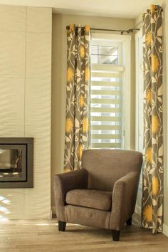 Great side panels dress up the Hunter Douglas Illusion Shades.  budgetblinds.com