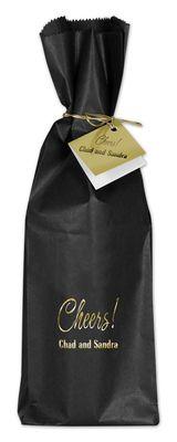 Black and Gold Wine Bag Ensemble Set