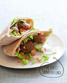 Falafel Pita Sandwiches - unique and yummy!
