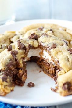 smores stuffed chocolate chip cookies 1a