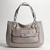 Coach Kristin leather zip top tote style