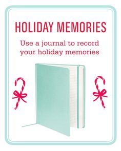 A beautiful #journal is perfect for recording your #holiday memories or #recipes.