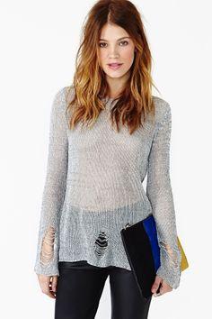 Sloan Shredded Knit $58
