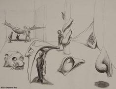 Stephanie Metz, Large Flesh & Bone Sketches, Charcoal on Paper