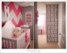 Pink baby girl nursery
