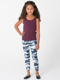 American Apparel - Kids Patterned Polyester Spandex Legging
