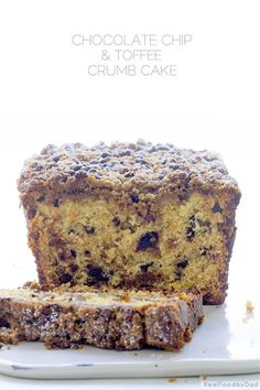 3 Chocolate Chip & Toffee Crumb Cake with Real Food by Dad
