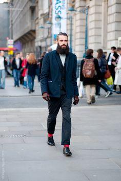 Now that is a beard. #menswear #fashion #streetstyle #beard