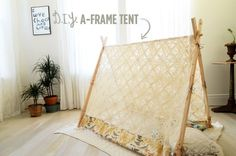 DIY A-Frame Tent on A Beautiful Mess